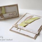 Nov list - vabilo in imenska kartica