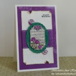 Purple Birthday Rose - voščilnica front