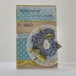 rocno-delo-unikat-voscilnica-rojstni-dan-hydrangea-flower-hortenzija-modra-zelena