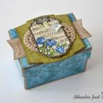 Modre vrtnice - darilna škatlica