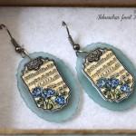 Modre vrtnice - uhančki