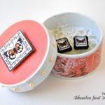 ročno-delo-uhani-škatlica-darilo-metuljčki