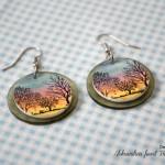 ročno-delo-nakit-uhani-viseči-drevesa-sončni-zahod