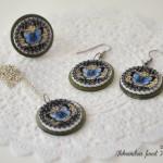 rocno-delo-unikat-kolekcija-nakit-metuljcek-moder-barocni