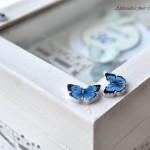Mini knjiga Metuljčki za rojstni dan - detajl na škatlici