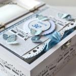 Mini knjiga Metuljčki za rojstni dan - odprta škatla