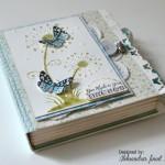 rocno-delo-unikat-voščilnica-posebna-knjiga-rojstni-dan-regratova-lučka-metuljček-turkizna-zelena