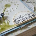 rocno-delo-unikat-voščilnica-posebna-knjiga-rojstni-dan-regratova-lučka-metuljček-turkizna-zelena-detajl-napis-daj-polet-svojim-sanjam