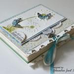 rocno-delo-unikat-voščilnica-posebna-knjiga-rojstni-dan-regratova-lučka-metuljček-turkizna-zelena-zavezovanje