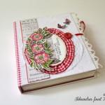 rocno-delo-unikat-voscilnica-cestitka-posebna-knjiga-vrtnica-rdeča-karo-čipka