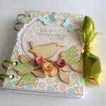 rocno-delo-unikat-darilo-belezka-koledarček-rokovnik-ptiček-vrtnice-ura-cudovit-svet-zelena-modra-oranžna-rumenaJPG