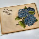 rocno-delo-unikat-voscilnica-lesena-posebna-hortenzija-cvetje-flowers-rojstni-dan