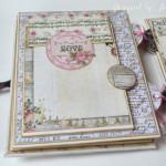 rocno-delo-unikat-album-za-fotografije-ljubezen-poroka-vintage-vrtnice-cipka-ptice-ura-cetrta-stran