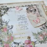 rocno-delo-unikat-album-za-fotografije-ljubezen-poroka-vintage-vrtnice-cipka-ptice-ura-sesta-stran.detajl-napis-ljubezen-zivljenje-kot-ju-ustvarimo