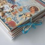 rocno-delo-unikat-album-za-fotografije-porocni-morski-morska-zvezda-skoljka-mornarska vrv-sidro-zavezovanje