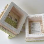 rocno-delo-unikat-voscilnica-posebna-darilna-škatla-denarno-darilo-harmonika-zelena-notranjost