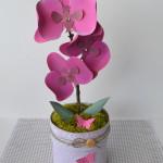 rocno-delo-unikat-darilo-darilna-skatlica-roza-orhideja-v-loncku