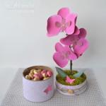 rocno-delo-unikat-darilo-darilna-skatlica-roza-orhideja-v-loncku-odprta