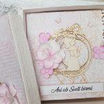 rocno-delo-unikat-darilo-voščilnica-knjiga-birma-roza-bež-deklica-cvetlice-2