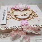 rocno-delo-unikat-darilo-voščilnica-knjiga-birma-roza-bež-deklica-cvetlice-5