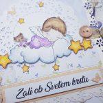 rocno-delo-unikat-darilo-voščilnica-knjiga-krst-vijola-angel-oblak-4