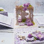 rocno-delo-unikat-voščilnica-škatlica-presenečenja-poroka-lila-par-paviljon-3